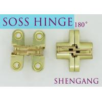 """China Satin Brass Soss Stainless Steel Concealed Hinges , Wings measure 3/8"""" Wide x 1-11/16"""" Long for 1/2"""" , SOSS #101 wholesale"""