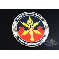 China 2D Army Challenge Coins Souvenir Gift , Round Military Commemorative Coins wholesale