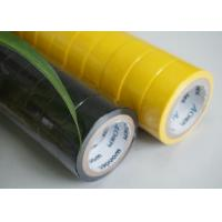 China High Strength Yellow / Black PVC Electrical Tape Flame Retardant 0.13MM Thickness wholesale