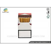 China Plain Paper Cigarette Packaging Box UV Varnish Finishing 88*56*23mm Dimension wholesale