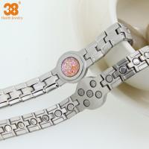 Stianless Steel Silver Plate Fashion Bracelet 2016 Bracelet,5 in 1 Bio Element