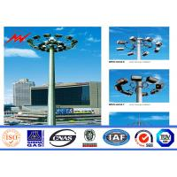 China High strength Anti-corrosion Coating High Mast Pole with 400w HPS lights wholesale