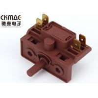 China 4 Brass Pins Multi Position Rotary Switch Metal Spindle For Electric Stove wholesale