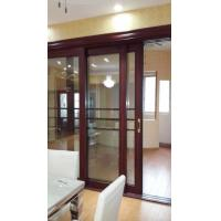 China Living Room Wood Aluminium Interior Sliding Doors Double Tempered Glass With Louver wholesale