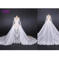 China Perspective Fantasy Bride Female Wedding Dress High End Detached Tail wholesale