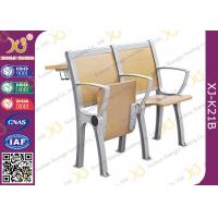 China Wooden College Student Desk And Chair Set With Aluminum Frame wholesale