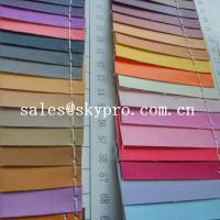 China Smooth PU Synthetic Leather / PVC Synthetic Leather Material For Making Bags wholesale
