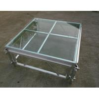 China Easy install acrylic / glass adjustable stage platform / plexiglass stage Platform with Aluminum truss wholesale