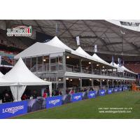 China Double Decker Exhibiiton Event High Peak Tents With Glass ABS Walls wholesale