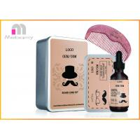 China Natural Men Beard Care Kit Includes Beard Oil 60ml / Beard Balm 2.82oz / Wooden Comb on sale