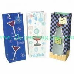 China Wine gift bag , gift wine bag , paper shopping bag wholesale