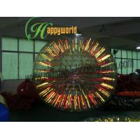 China Funny Fluorescent human Inflatable Bumper Ball / Water Zorb Ball Rental on sale