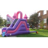 China Inflatable Pink Princess Castle with slide wholesale