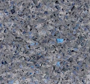 Buy cheap Stone Cutting Artificial Quartz Jewelry Blue Abrasion Resistance Quartz Stone Slab from wholesalers