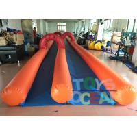 China Adults Inflatable City Slide Mini Inflatable Slip And Slide With 2 Lanes wholesale