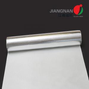 China 0.55mm Aluminum Foil Laminated Fiberglass Fabric Heat Insulation on sale