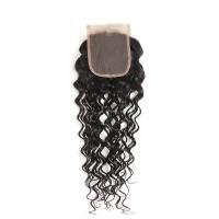 Peruvian Human Hair Closures With A Natural Part , Remy Hair Lace Closure