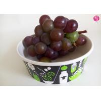 China Takeaway 34oz disposable salad bowls , Fruit Paper Bowl for Beverage wholesale