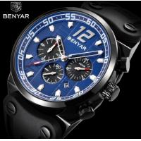 China Wholesale Benyar Men 3 ATM Waterproof Silicone Band Chronograph Quartz High Quality Wrist Watches  BY-5131M wholesale