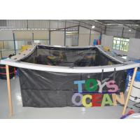 China Square Inflatable Water Toys Inflatable Swimming Pool With Net 0.90mm PVC Tarpaulin wholesale