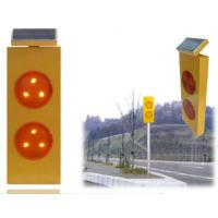 China Yellow Flashing Solar Warning Sign Traffic LED Warning Light wholesale