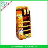 Quality Customized Free Standing Cardboard food Display for Shop Corrugated foods for sale