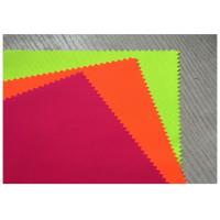 China Thin Fluorescent Orange Fabric Cotton Woven Twill 32X21 For Suit Clothing wholesale