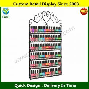 China Professional Black Metal Nail Polish  Display Rack wholesale