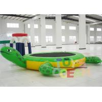 China Inflatable Tortoise Water Trampoline For Water Entertainment wholesale