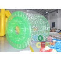 China 1.00mm PVC TPU Green / White Inflatable Walking Ball Water Roller For Fun wholesale