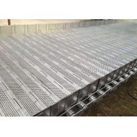 China Flat Surface Plate Conveyor Belt High Load With Roller Chain ISO9001 wholesale