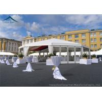 China Multi-Sided White Width 10m  Sunproof Marquee Tent PVC Fabric wholesale