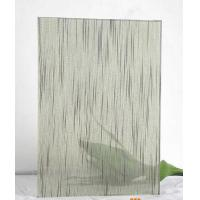 Quality 12mm Tempered Laminated Patterned Glass Panels Fire Proof Guard Against Theft for sale