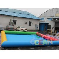 China 6 X 8m Inflatable Water Game Square Inflatable Swimming Pool For Amusement Park wholesale