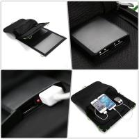 China  Dual Port Portable Foldable  Solar Panel Power Bank for Smartphone iPhone / Ipad  for sale