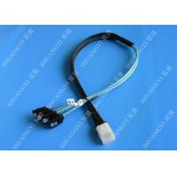 China Flexible SAS To 4x SATA Forward Breakout Cable 3.3 Feet 30 AWG Style wholesale