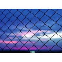 China Heavy Duty 5 Green Vinyl Chain Link Fence With 2 Inch Aperture 3 FT Tall wholesale