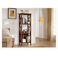 China Three Shelf Tall Sturdy Narrow Wooden Book Case / Bookcase For Home wholesale