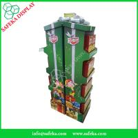 China pop custom retail packaging display template paper store stand Promotion cardboard cabinet shelf for gift wholesale