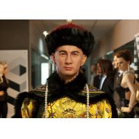 China Silicone And Resin Life Size Wax Figures / Celebrity Wax Statues Chinese Men wholesale