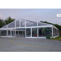 China Clear Cover Fabric Large Wedding Catering Tent With Round Tables , Chairs wholesale