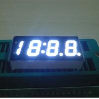China White Bright 4 Digits Numeric 7 Segment LED Displays For Car Clock Indicator wholesale