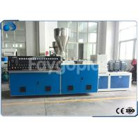 China Conical Twin Screw PVC Extruder Machine , Plastic Sheet Extrusion Line 250-380kg/h wholesale