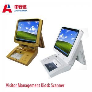 China Muti-color Portable Desktop Visitor Management Kiosk Touch Screen Bank Payment Kiosks ZA-VM202 on sale