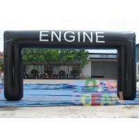 China Black Large Advertising Inflatables Customized Engine Inflatable Arch Tent For Events wholesale