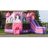 China New Commercial Inflatable Pink Princess Castle Combo Slide Bounce House Moonwalk wholesale