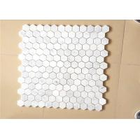 Hexagonal Honed Stone Mosaic Tile Marble Stone Chip 12