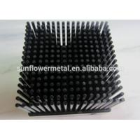 Buy cheap Low price customized black anodized 1070 aluminum cold forging pin fin heat sink from wholesalers