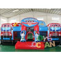 China Outdoor Fire Man Station Inflatable Playground For Children 5x5x2.5m wholesale