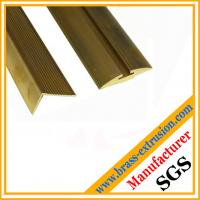 China brass floor stair orichalc extruion profiles sections on sale